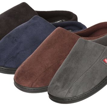 Men's Suede Slip-on Slippers with Side Stitching - CASE OF 24