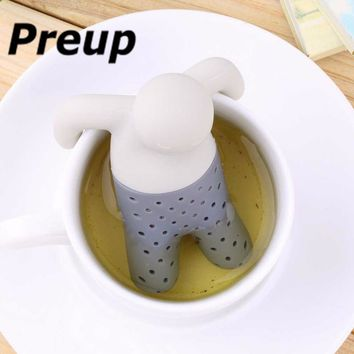 2017 Tea Strainer Interesting Life Partner Cute Mr Teapot Silicone Tea Infuser Filter Teapot for Tea & Coffee Filter Drinkware