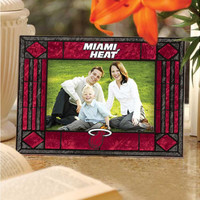 Miami Heat Art Glass Picture Frame