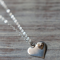 Riveted Hearts Necklace in Sterling Silver
