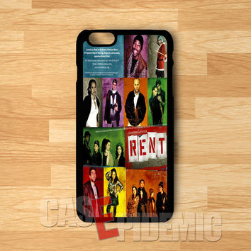 Rent Musical Poster Broadway -3 for iPhone 6S case, iPhone 5s case, iPhone 6 case, iPhone 4S, Samsung S6 Edge