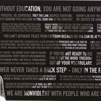 Malcolm X Quotes Poster 12x24