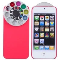 Kaleidoscope Multi Lens Holga Filter Lenses Back Case Cover Skin Anti-Scratch Protector Defender for Apple New iPhone 5 - Red