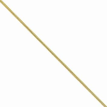 14K Yellow Gold Franco Chain Bracelet