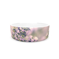 "Robin Dickinson ""Smell the Flowers"" Lavender Green Pet Bowl"