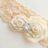 garter set, wedding garters, bridal garters, lace garters, bride, wedding accessory,  beige garters,