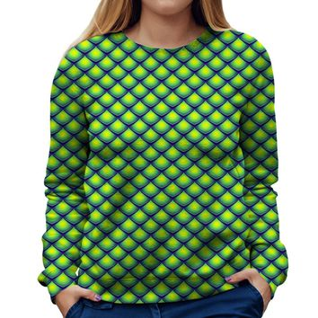 Dragon Scales Womens Sweatshirt