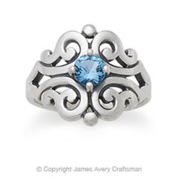 Spanish Lace Ring with Blue Topaz from James Avery