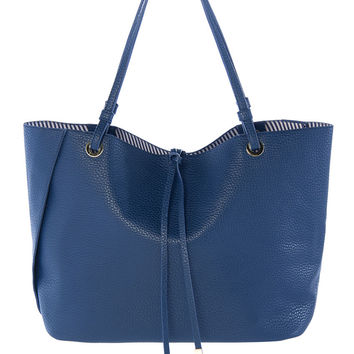 Mallorca Navy Leather Tote