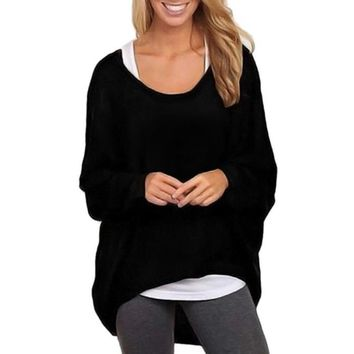 Oversized Loose Pullover Sweater