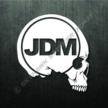 JDM Skull Bumper Sticker Vinyl Decal Dope Japanese Car Window Decal For Honda Si