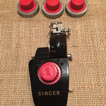 Singer Automatic Zigzagger 1954/Vintage Singer Parts/Vintage Zigzagger/Zigzagger with Attachment/Instruction Manual Included