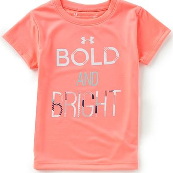 Under Armour Little Girls 2T-6X Short-Sleeve Bold And Bright Tee | Dillards