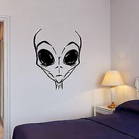 Wall Decal Extraterrestrial Alien Humanoid Newcomer Space Vinyl Stickers Unique Gift (ed055)