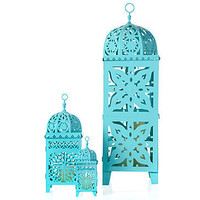 Z Gallerie - Casablanca Lanterns - Aquamarine