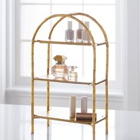 Gold Bamboo Vanity Display
