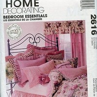 McCalls Bedroom Essentials Pattern Dust Ruffle Curtains Pillow Shams Etc.