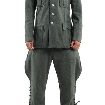 WW2 WWII GERMAN M36 OFFICER WOOL FIELD MILITARY UNIFORM TUNIC & BREECHES SET IN SIZES