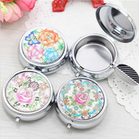 Stainless Steel Floral Ashtray
