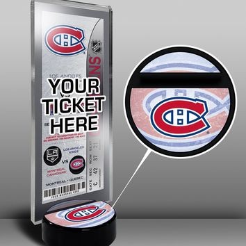 NHL Montreal Canadiens Hockey Puck Ticket Display Stand, One Size, Multicolored