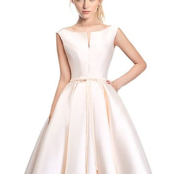 Women's Bridesmaid A-line Evening Gown Party Dress