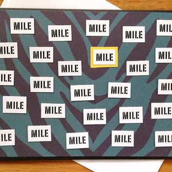 One Mile At A Time Good Luck, Motivational, Encouragement Greeting Card for Marathon Runners or Walkers