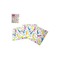 Candy Prints Super Fun Penis Party Napkins 2 Ply 8 Count