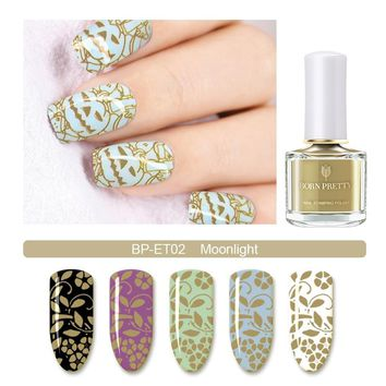 BORN PRETTY Stamping Polish Lacquer 6ml Brown Yellow Blue Nail Art Stamping Polish Earth Tone Series for Stamping Plate