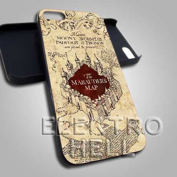 The marauder Map - iPhone 4/4s/5 Case - Samsung Galaxy S3/S4 Case - Black or White