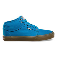 Vans Chukka Midtop Mens Shoes Bright Blue/Gum  In Sizes