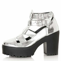 ARCADE Cut Out Chunky Boots - Silver