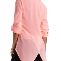 High-Low Chiffon Top by Charlotte Russe
