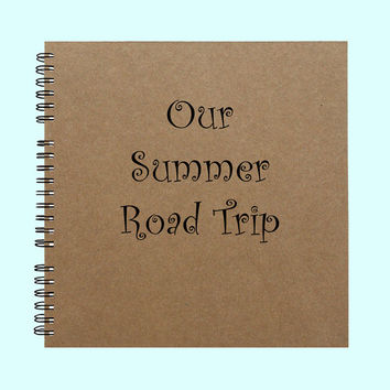 Our Summer Road Trip - Book, Large Journal, Personalized Book, Personalized Journal, , Sketchbook, Scrapbook, Smashbook