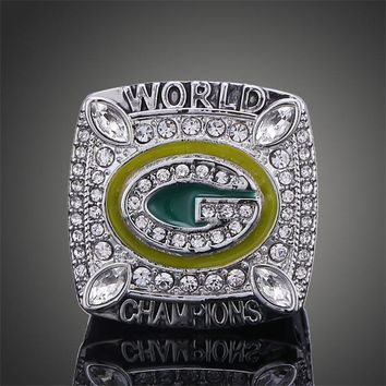 Replica Wisconsin Green Bay Packers Super Bowl Rings Elite QB Aaron Rodgers MVP Sports Replica Champ Ring Men jewelry souvenirs