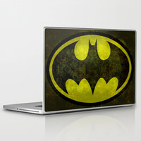 BATMAN, My Vintage Retro Version of that Iconic Symbol Laptop & iPad Skin by LonestarDesigns2020 - Flags Designs +
