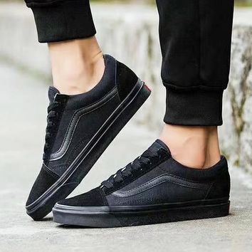 VANS Full Black Old School Classicas Flats Shoes  B-CSXY