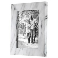 "5""x7"" Black & White Marble Frame - Threshold™"
