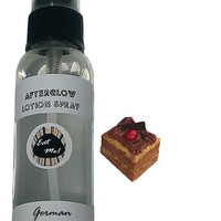 Afterglow - German Chocolate Cake Natural Body Skin Care Moisturizing Scented Vegan Paraben Free Lotion Spray with Aloe