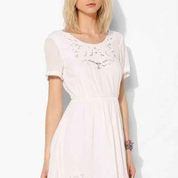 Pins And Needles Embroidered V-Back Dress- Cream S