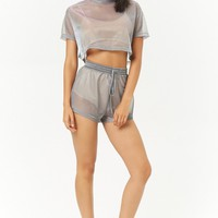 Sheer Iridescent Crop Top