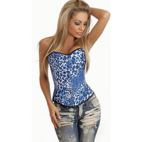 Waist Shaper Body Blue Animal Sexy Palace Corset [4965295812]