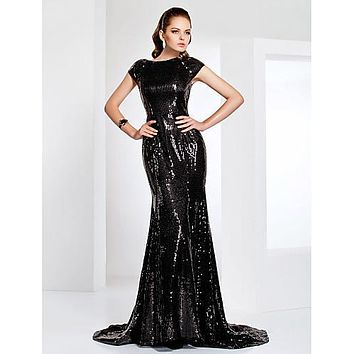 Herian Sequined Black Dress