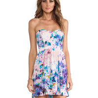 Parker Lily Combo Dress in Blue