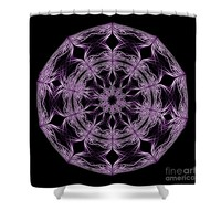 Mandala Purple And Black Shower Curtain