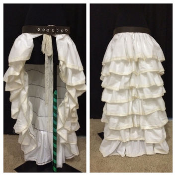 Steampunk inspired bustle skirt