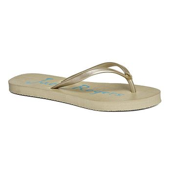 Skye Flip Flops in Platinum by Jack Rogers - FINAL SALE
