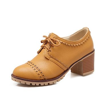 Lace Up Oxfords Women Casual Shoes