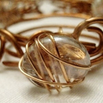 Wire Wrap Copper Napkin Rings Table Setting Ideas