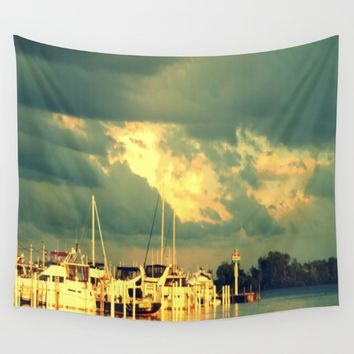 Lets Go For a Boat Ride Wall Tapestry by 2sweet4words Designs