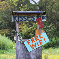 Kissing Booth photography print Americana Funny Humorous country french kissing